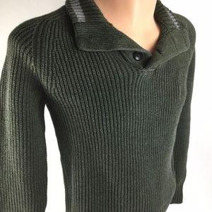 American Eagle Green Men's Pullover Khaki Sweater